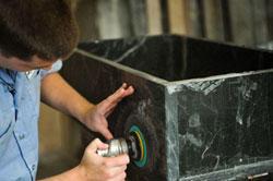 Polishing Soapstone Sink